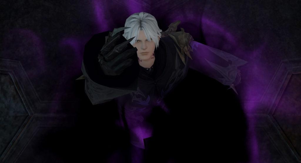 FF14のダンジョン『最終決戦 魔導城プラエトリウム』に出現するボス『アシエン・ラハブレア』のイメージ画像です。
