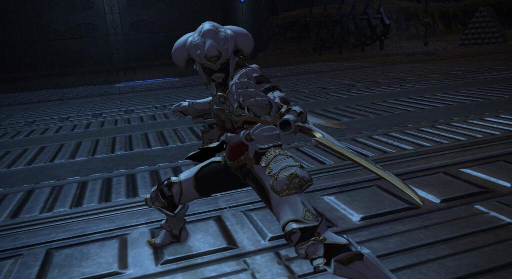 FF14のダンジョン『外郭攻略 カストルム・メリディアヌム』に出現するボス『リウィア・サス・ユニウス』のイメージ画像です。