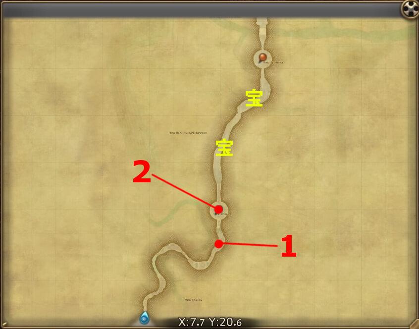 FF14の漆黒ヴィランズ(5.0)で追加されたダンジョン『殺戮郷村 ホルミンスター(前半)』の全体マップです。