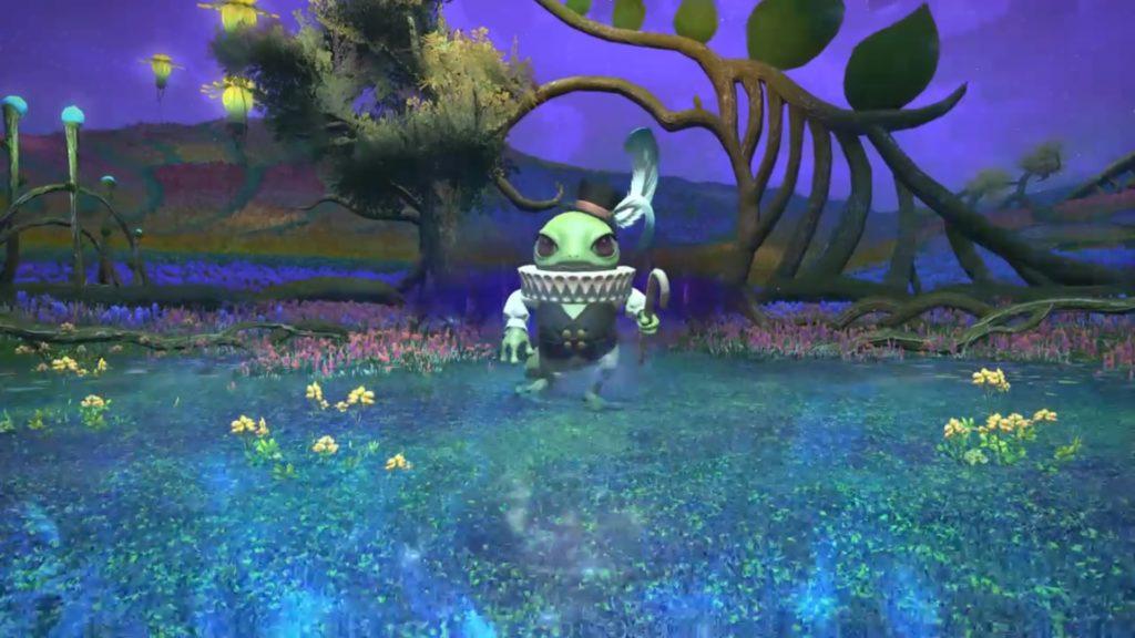 FF14の5.0ダンジョン『水妖幻園 ドォーヌ・メグ』に出現するボス『美眼のインク=ゾン』のイメージ画像です。