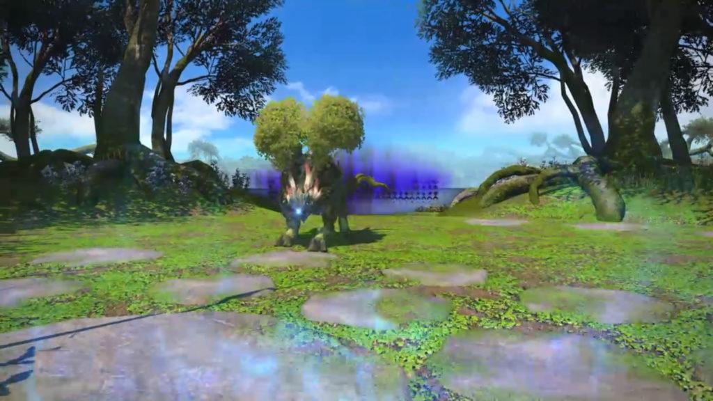 FF14の5.0ダンジョン『水妖幻園 ドォーヌ・メグ』に出現するボス『グリオール』のイメージ画像です。