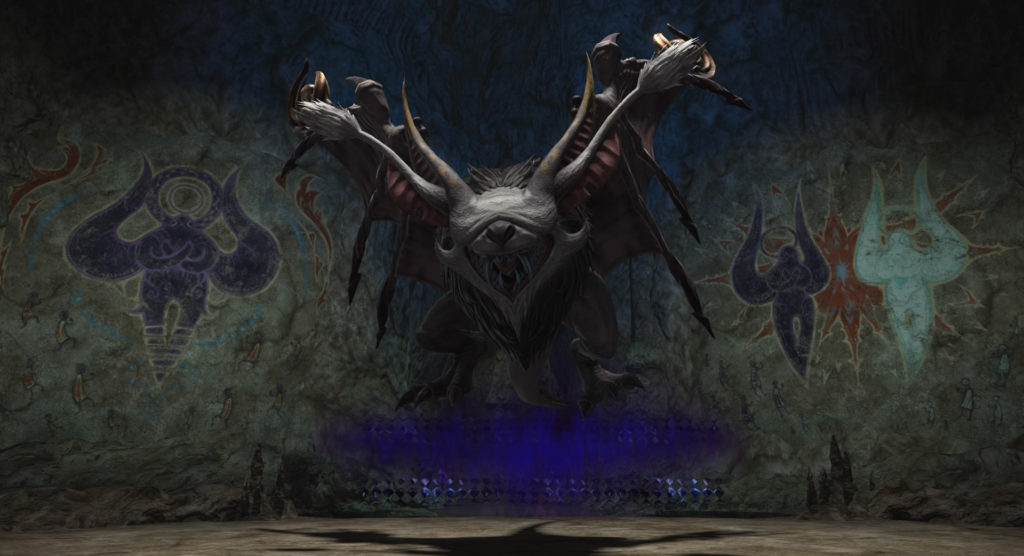 FF14のダンジョン『古跡探索 キタンナ神影洞』に出現する中ボス1『バッツカッチ』のイメージ画像です。