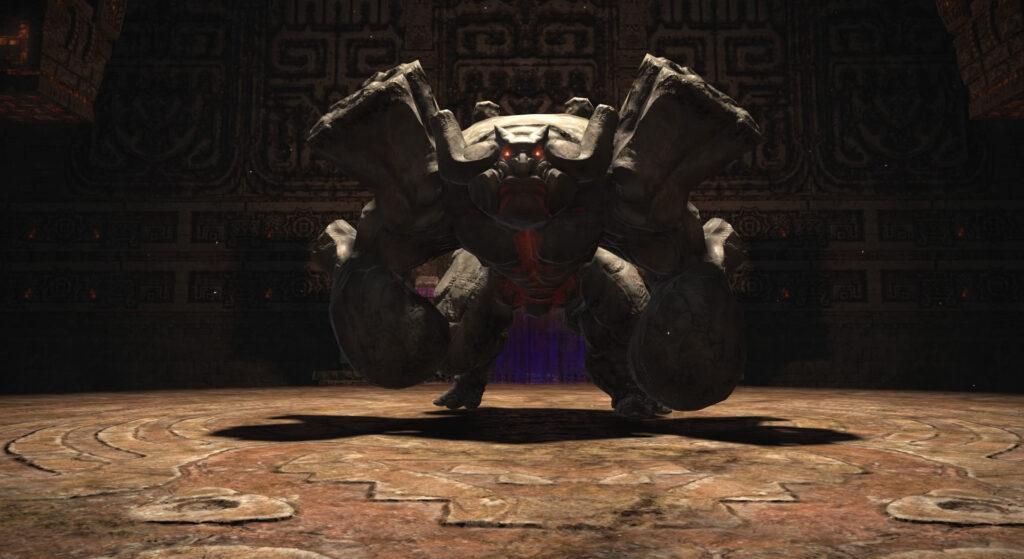 FF14のダンジョン『古跡探索 キタンナ神影洞』に出現する中ボス1『ロツァトル』のイメージ画像です。