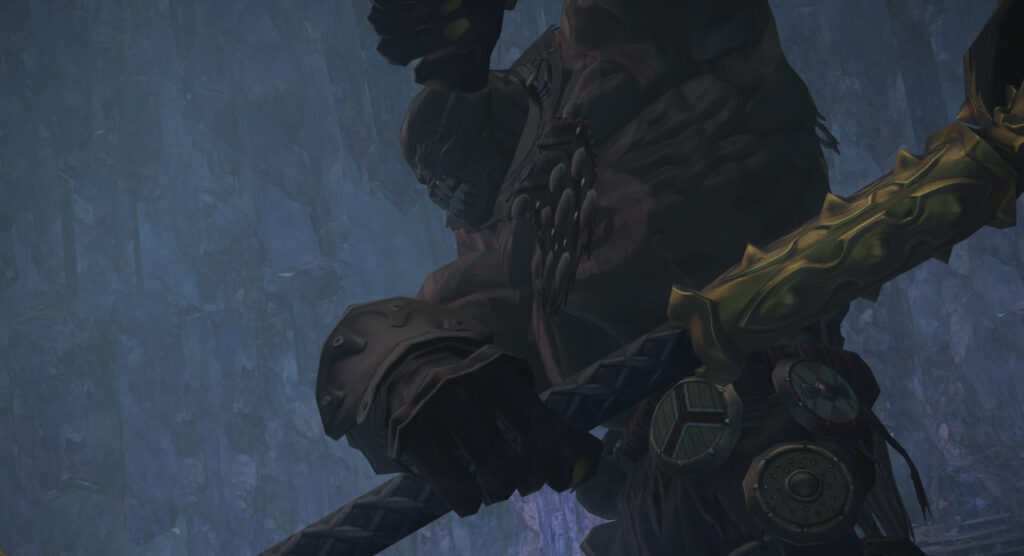 FF14のダンジョン『騒乱坑道 カッパーベル銅山(ハード)』に出現するボス『復讐のウラノス』のイメージ画像です。