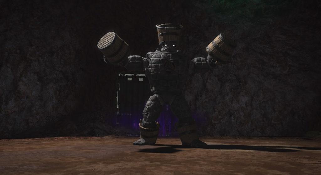 FF14の漆黒ダンジョン『爽涼離宮 マリカの大井戸』に出現する中ボス2『ハイドロタロース』のイメージ画像です。