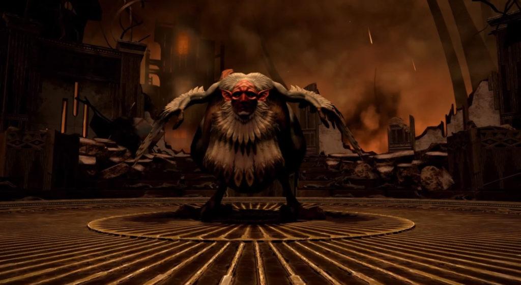 FF14の漆黒ダンジョン『終末幻想 アーモロート』に出現するボス『ターミナス・ベルウェザー』のイメージ画像です。