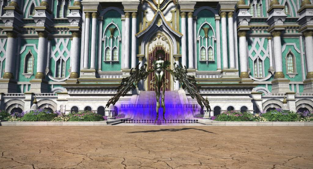 FF14のパッチ5.1ダンジョン『魔法宮殿 グラン・コスモス』に出現するボス『リャナンシー』のイメージ画像です。