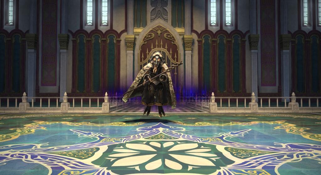 FF14のパッチ5.1ダンジョン『魔法宮殿 グラン・コスモス』に出現するボス『宮殿の隠者』のイメージ画像です。