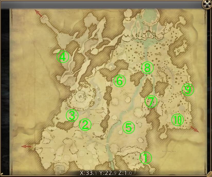 マップ『高地ドラヴァニア』
