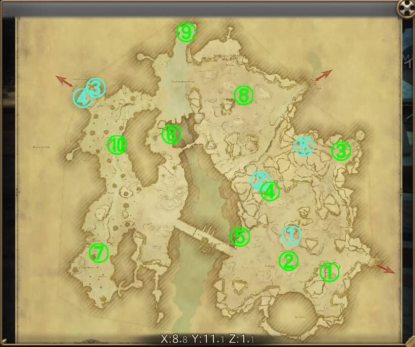 全体マップ『ギラバニア辺境地帯』