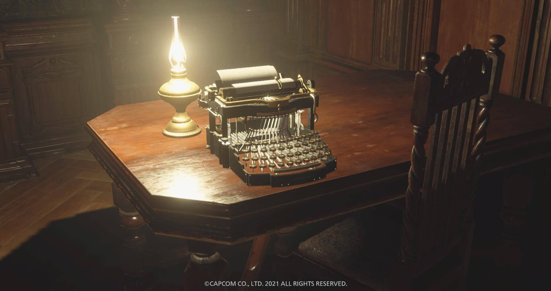 タイプライターの設置数について『バイオハザードヴィレッジ(バイオ8)』