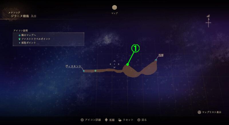 マップ『ジラーヌ樹海:入口』