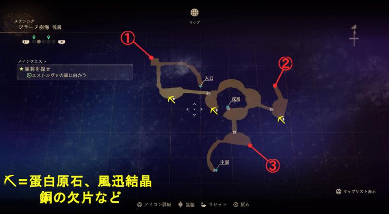 マップ『ジラーヌ樹海:浅層』